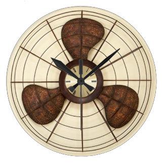 rusty rotary fan wall clock