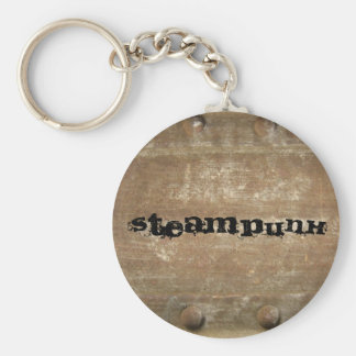 Rusty Scratched Metal Steampunk Key Chain