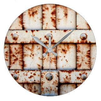 Rusty Wall Large Clock