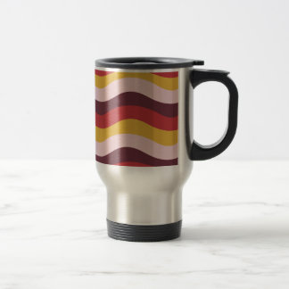 Rusty Wave Stripes Travel Mug