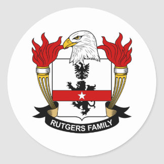 Rutgers Family Crest Round Sticker
