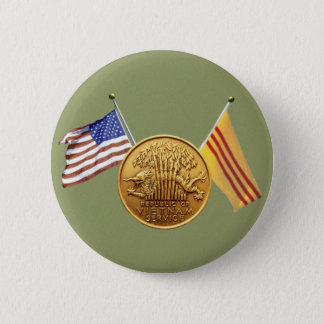 RVN service with flags green sticker 6 Cm Round Badge