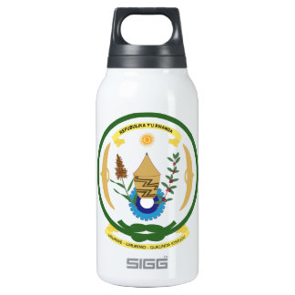 Rwanda Coat of Arms Insulated Water Bottle