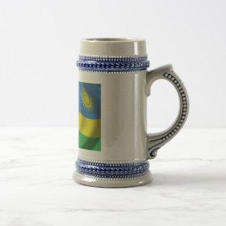 Rwanda Flag Beer Stein