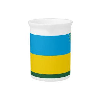 Rwanda Flag Beverage Pitchers