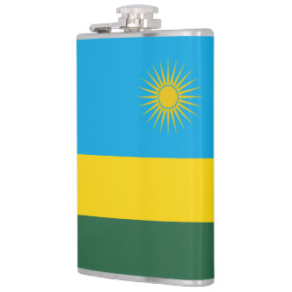 Rwanda Flag Hip Flask