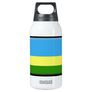 Rwanda Flag Insulated Water Bottle