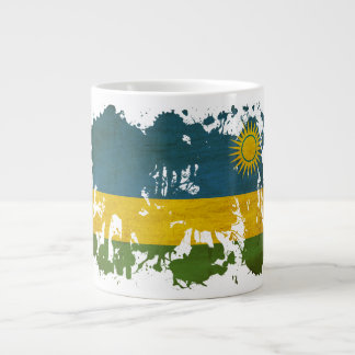 Rwanda Flag Large Coffee Mug