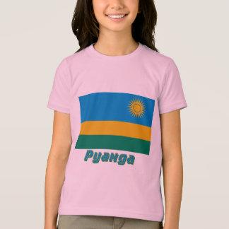 Rwanda Flag with name in Russian T-Shirt