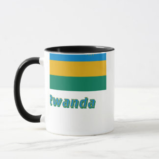 Rwanda Flag with Name Mug