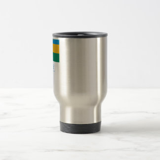 Rwanda Flag with Name Travel Mug