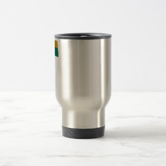 Rwanda Waving Flag with Name Travel Mug