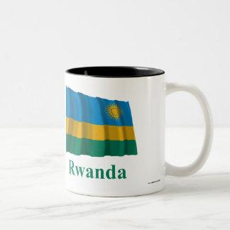 Rwanda Waving Flag with Name Two-Tone Coffee Mug