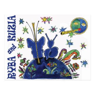 RYBA and KUZIA-4. Moltchanoph Inc. Postcard