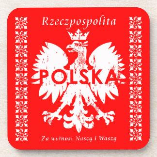 Rzeczpospolita Polska Polish Eagle Emblem Coaster