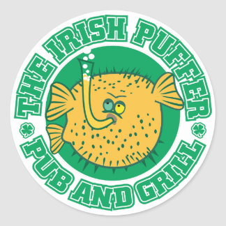 S105 - Irish Puffer Pub & Grill Sticker