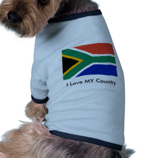 S Africa Flag The MUSEUM Zazzle I Love MY Country Dog Clothes
