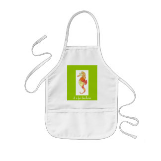 S is for Seahorse Kids Apron