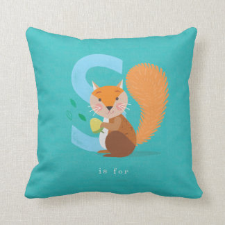 S is for... throw pillow