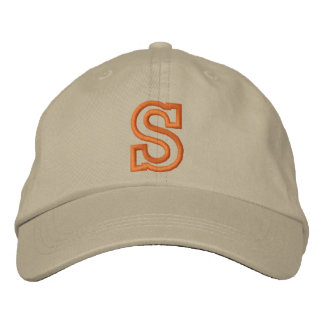 """""""S"""" Small Athletic Letter Embroidered Hat"""