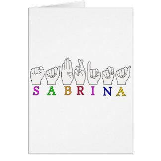 SABRINA CARD