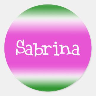 Sabrina Classic Round Sticker