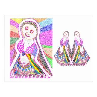 SABRINA  Dream Girl in Pink Postcard
