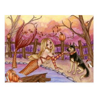 Sabrina - Fall Mermaid Postcard