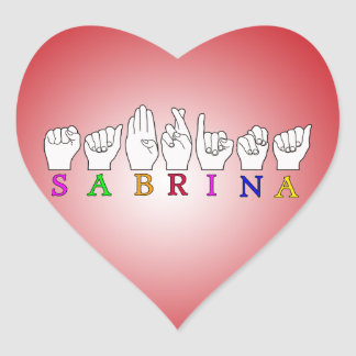 SABRINA HEART STICKER