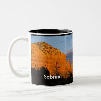 Sabrina on Moonrise Glowing Red Rock Mug