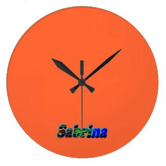 Sabrina's wall clock
