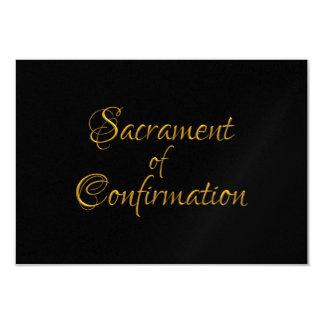 Sacrament of Confirmation Golden 3D Look Card