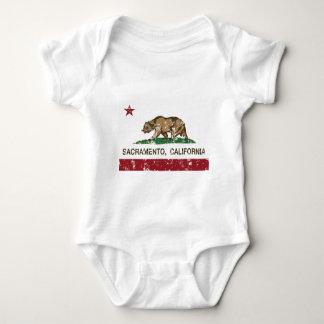 sacramento california state flag baby bodysuit