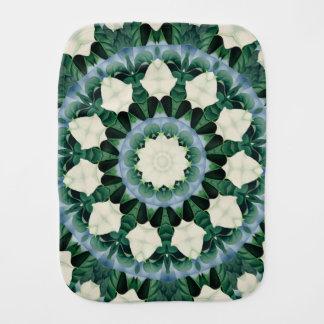 Sacramento Green and Cerulean Blue Mandala Burp Cloth