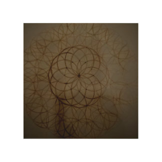 Sacred geometry flower circle wood wall art