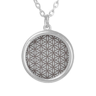 Sacred Geometry Flower of Life Silver Plated Necklace