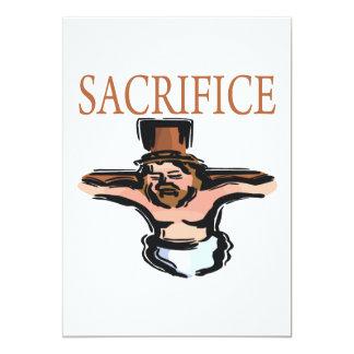 Sacrifice 13 Cm X 18 Cm Invitation Card