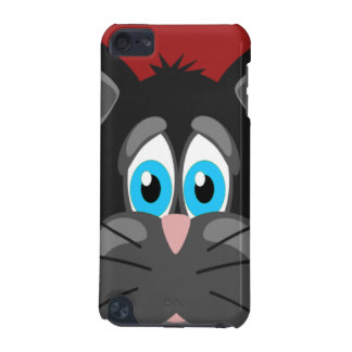 Sad Cat Face on a Red Background iPod Touch 5G Cases