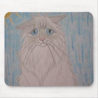 Sad Cat Mouse Pad