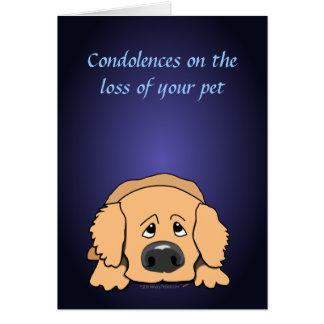 Sad Dog Cartoon Condolences Pet Sympathy Card