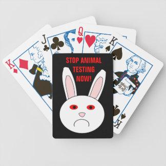 Sad Lab Rabbit Animal Testing Playing Cards