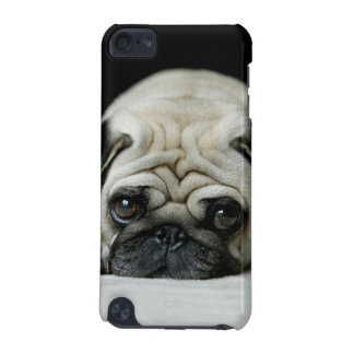 Sad pug - dog lying down - dog look - cute puppies iPod touch (5th generation) covers