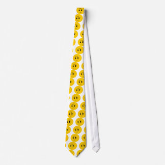 sad smiley tie