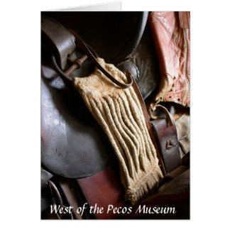 Saddle from West of the Pecos Museum Greeting Card