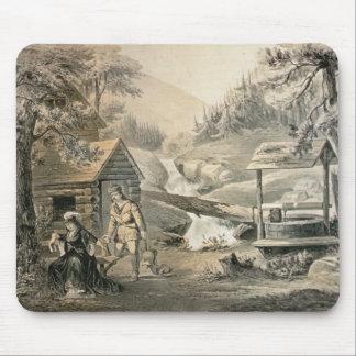 'Saddle Mending', Poster for 'Davy Crockett' starr Mouse Pad