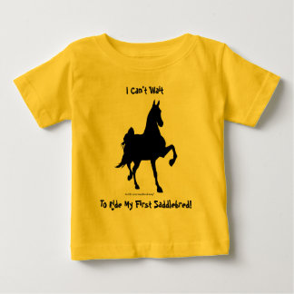 Saddlebred Horse Silhouette Baby T-Shirt