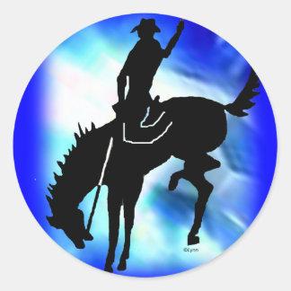 Saddlebronc 102 classic round sticker
