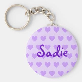 Sadie in Purple Key Ring