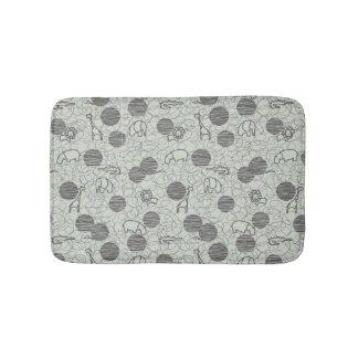 safari animals 1 bath mat