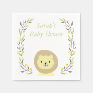 Safari Baby Shower Napkins Disposable Napkins